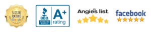 5 star kitchen and bathroom remodeling specialists badges