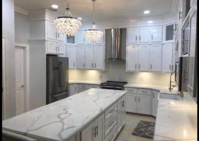 All White Elegant Kitchen Design