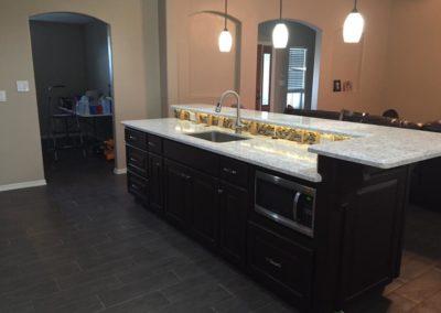 Backsplash Lights and Bartop Kitchen Design and Renovation