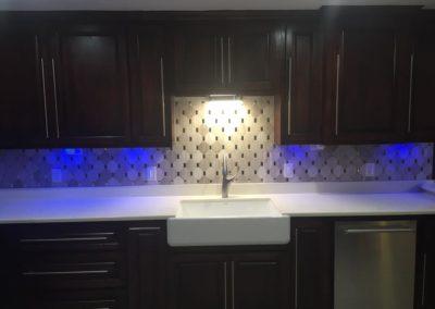 Kitchen Backsplash and Lights