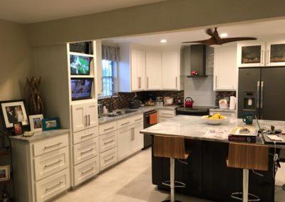 Modern White Cabinet Light Grey Countertop Kitchen Remodel