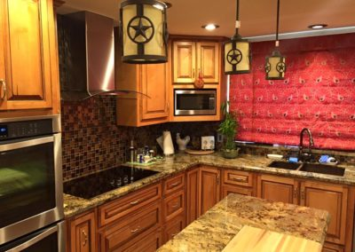 Traditional Kitchen Renovation showing Stove and Island
